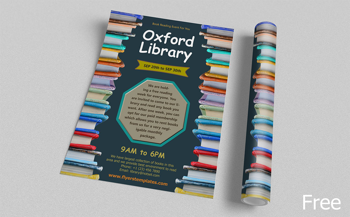 Free Library Flyer Template
