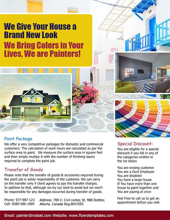 Coreldraw House Painting Flyer